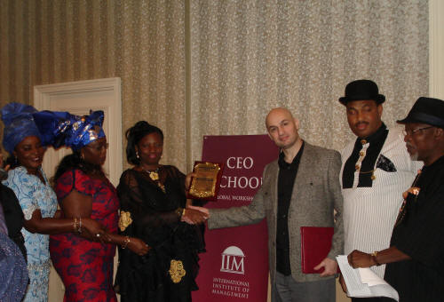 CEO Award - Nigeria Government Leadership Strategy Workshops - Med Jones - International Institute of Management - USA - Las Vegas